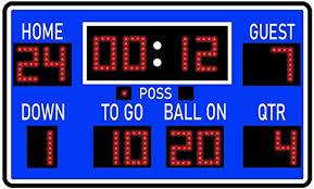 Amazon Com Vwaq Football Scoreboard Wall Sticker Peel And Stick Sports Decor Vinyl Decal Pas30 18 H X 30 W Blue Home Kitchen