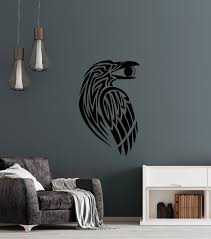 Vinyl Wall Decal Gothic Raven Celtic Style Bird Ornament Moon Crescent Wallstickers4you