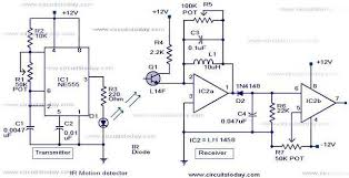 infrared motion detector circuit ir