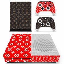 Louis Vuitton Xbox One S Skin Sticker Vinyl Bundle Monogram Supreme Designer Lab Co