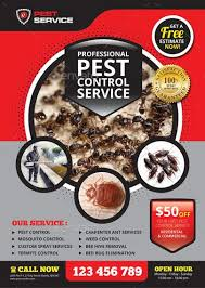 Pest Control Service Flyer #advertisement, #ant, #bed bug, #bee, #care  inspector, #carpenter, #cleaning, #commercial… | Pest control services, Pest  control, Pests