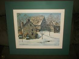 VINTAGE MADGE SMITH PRINT CLOISTERS EPHRATA PA MATTED ON FOAM ...