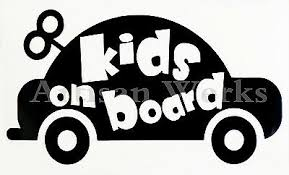 Kids On Board Decal Sticker For Cars Windows Baby On Board Kids Inside Ebay
