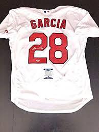 Adonis Garcia Autographed Jersey - St Louis Cardinals Beckett Cert ...