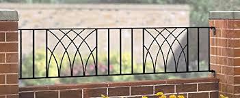 Verona Modern Railing Fence Panel 1830mm Gap X 393mm High Wrought Iron Steel Metal