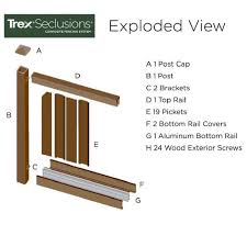 Trex Seclusions 6 Ft X 8 Ft Saddle Brown Wood Plastic Composite Board On Board Privacy Fence Panel Kit Tfspfk68 The Home Depot