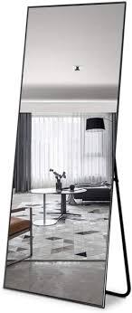 full length mirror rectangle metal