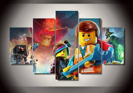 High Quality Lego Movie Kids Room Decoration Canvas Painting Posters For Wall Of 5 Pieces Frameless Living Room Wall Paintings Painting Poster Canvas Paintingwall Painting Aliexpress