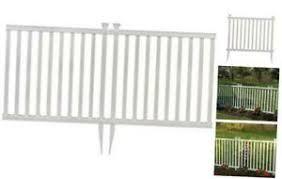 Zippity Outdoor Products Zp19037 Baskenridge Fence White Renewed Ebay