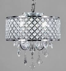 crystal chandelier chrome finish