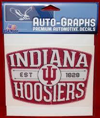 Iu Indiana Hoosiers Retro Badge Distressed Decal