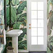 krane banana leaf wallpaper design ideas