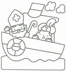 Kleurplaat Sinterklaas Peuters Google Zoeken Knutselen