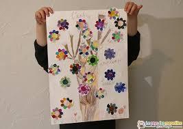 arbre du printemps peint avec de la