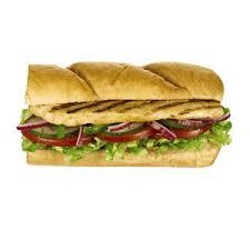 calories subway wheat bread