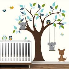 Baby Nursery Tree Wall Decals Kids Room Wall Decor Tree With Etsy Kids Room Wall Decals Vinyl Tree Wall Decal Kids Wall Decals