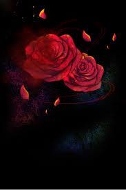 جو أسود وردة حمراء خاتم الماس H5 مواد أساسية أسود الغلاف الجوي