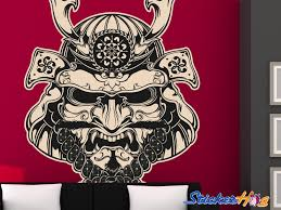 Samurai Mask Art Vinyl Wall Decal