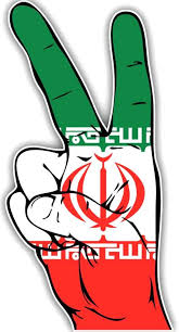 Iran Flag Hand Peace Sign Car Bumper Sticker Decal In 2020 Bumper Stickers Car Bumper Stickers Car Bumper