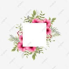 إطارات زهرة مائية مع خلفية مربعة فارغة لدعوات الزفاف الإطار إطار