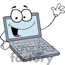cartoon laptop clipart