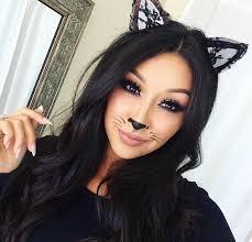 cute kitty cat makeup for halloween