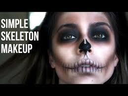 simple skeleton makeup last minute