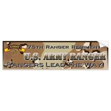 Army Rangers Bumper Sticker Zazzle Com