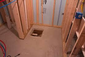 basement bathroom plumbing rough in