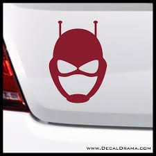Antman Mask Emblem Marvel Comics Avengers Vinyl Car Laptop Decal Decal Drama