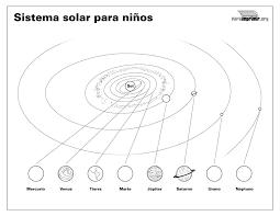 Ciclo Escolar El Sistema Solar Dibujos Para Colorear Sistema