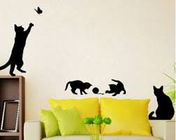 Cat Wall Stickers Etsy