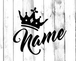 Crown Decal Etsy