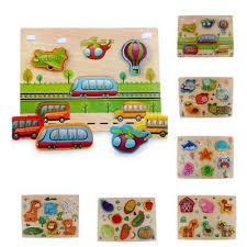 kids chunky wooden jigsaw puzzles