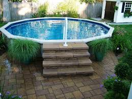 Backyard Above Ground Pools Decorating Ideas Intex Pool Fencing Decks Idea Home Elements And Style Back Yard With Stone Swimming Packages Small Large Crismatec Com