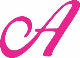 4in X 3in Pink Cursive A Monogram Sticker Vinyl Truck Window Car Stickers For Sale Online