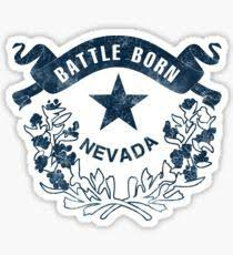Nevada Crest Sticker State Traditions