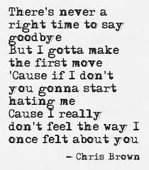 chris brown say goodbye chris brown song chris brown lyrics