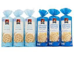 quaker rice cakes 6 ct salt free