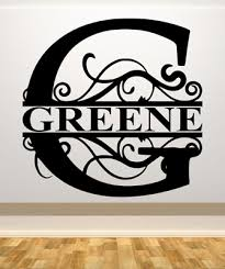 Fancy Letter G Personalized W Name Car Wall Vinyl Die Cut Decal 9 22 Tall Ebay