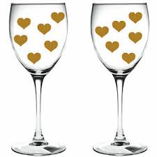 100 X Gold Hearts Hearts Wine Glass Vinyl Stickers Decal Xmas Festive Ebay
