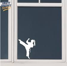 Martial Arts Karate Female Girl Kicking Silhouette Car Stickers And Decals