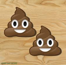 2 Two Poop Emoji Vinyl Decal Sticker For Car Laptop Skateboard New Cute