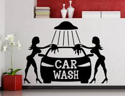 Car Wash Wall Sticker Sexy Girls Car Washing Auto Service Vinyl Decal Home Interior Decoration Waterproof Wall Decals Zb204 Wall Decals Vinyl Decalwall Sticker Aliexpress