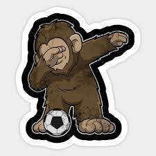 Soccer Bigfoot Sasquatch Squatch Dance Yeti Soccer Sticker Teepublic