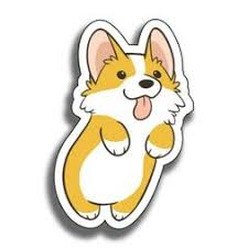 Corgi Decal Sticker Wall Car Window Phone Laptop