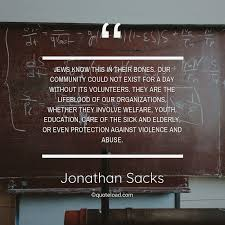 jews know this in their bones jonathan sacks about education