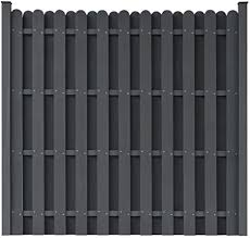 Vidaxl Wpc Fence Panel With 2 Posts 180x180cm Square Grey Enclosure Barrier Amazon Co Uk Kitchen Home