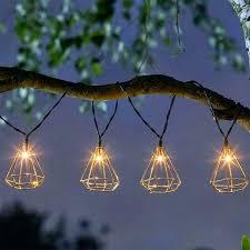 solar 10 string solar geo string lights