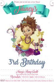 Fancy Nancy Clancy Birthday Invitation Fiestas Tematicas Fiesta